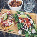 Ce midi panamebar Avocado toast roquette radis betteraves tomates scheshellip
