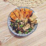 Repas vegan du soir  brocolis champignons de Paris patateshellip
